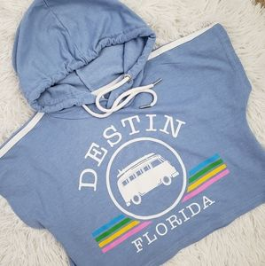 Girl's Destin Beach Vintage Van Crop Top sz S